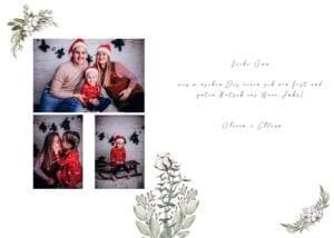 Weihnachtskarte Familienfotos Frankfurt